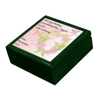 16th Birthday Gift Box with Flowers & Butterflies