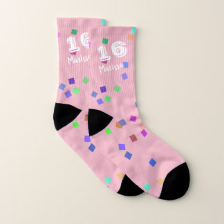 16th Birthday Gift Ideas Socks with Confetti 1