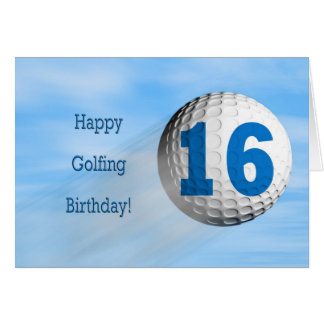 16th birthday golfing card