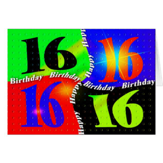 16th BIRTHDAY GREETING - UNISEX Card