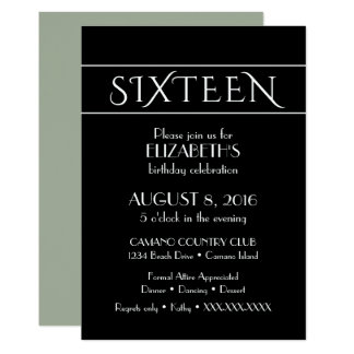 16'th Birthday Invitation