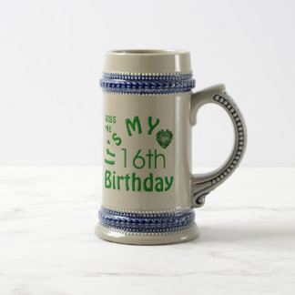 16th Birthday Irish Kiss Me Beer Stein