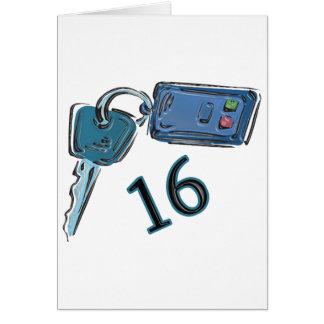 16th Birthday Keys Gifts Greeting Card