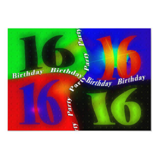 16th Birthday Party INVITATIONS - Abstract