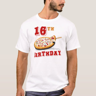 16th Birthday Pizza Party T-Shirt