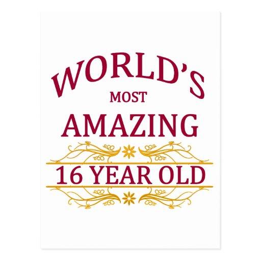 16th. Birthday Post Cards