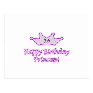 16th Birthday Princess Postcard