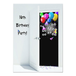 16th Birthday Surprise Party Card