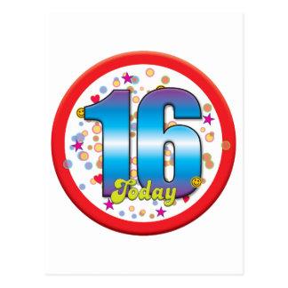 16th Birthday Today v2 Post Card