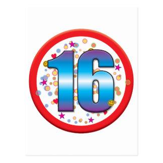16th Birthday v2 Post Card