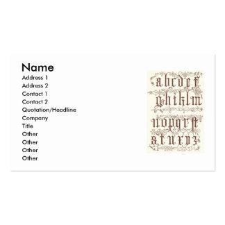 16th Century Alphabet Business Card
