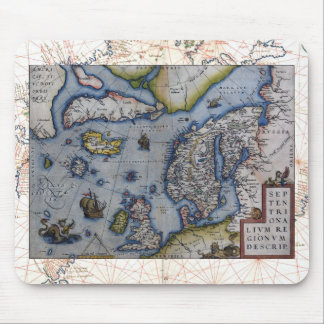 16th Century Map of Scandinavia Mouse Pad