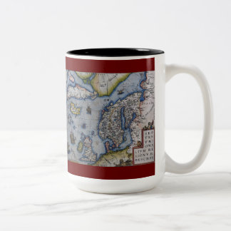 16th Century Map of Scandinavia Mug