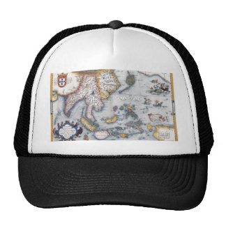 16th Century Map of South East Asia and Indonesia Trucker Hats