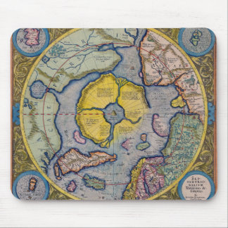16th Century Mercator North Pole Map Mouse Pad