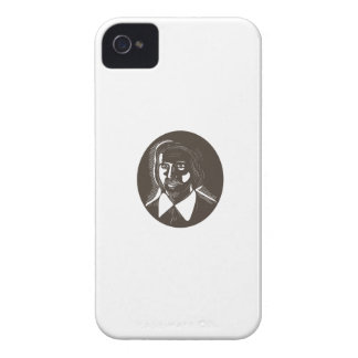 16th Century Poet Oval Woodcut iPhone 4 Covers