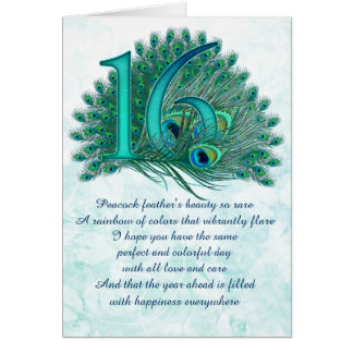 16th Diva numbered greeting cards