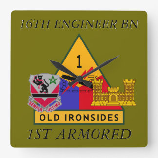 16TH ENGINEER BATTALION 1ST ARMORED CLOCK
