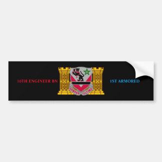 16TH ENGINEER BN 1ST ARMORED BUMPER STICKER