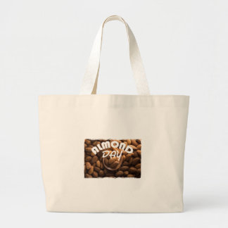 16th February - Almond Day - Appreciation Day Large Tote Bag