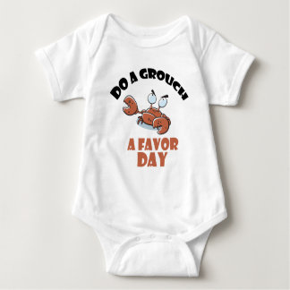 16th February - Do a Grouch a Favor Day Baby Bodysuit