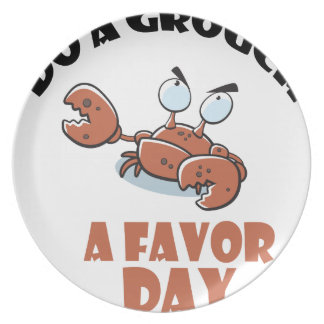 16th February - Do a Grouch a Favor Day Plate