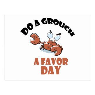 16th February - Do a Grouch a Favor Day Postcard