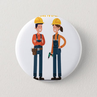 16th February Introduce a Girl To Engineering Day 6 Cm Round Badge