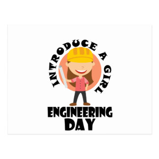 16th February Introduce A Girl To Engineering Day Postcard