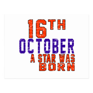 16th October a star was born Postcards
