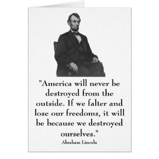 16th President Abraham Lincoln Greeting Card