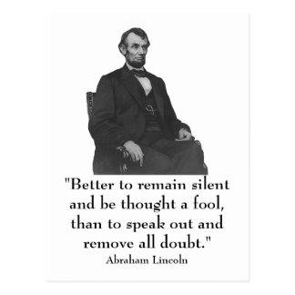 16th President Abraham Lincoln Postcard