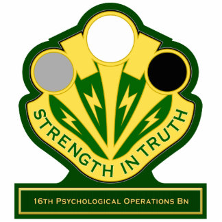 16th Psychological Operations Battalion DUI Standing Photo Sculpture