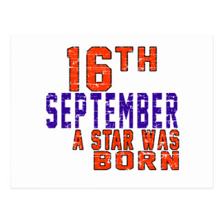 16th September a star was born Postcard