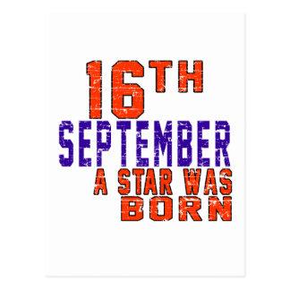 16th September a star was born Postcard