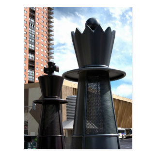 16th Street Chess Pieces Postcard