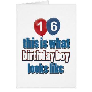 16th year birthday designs card