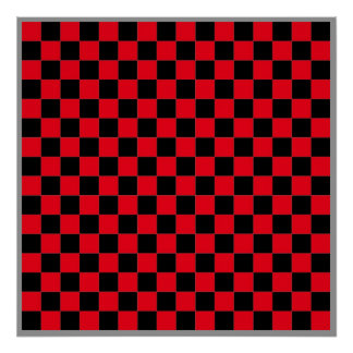 "16x16 Checkers TAG Board (1-1/4"" fridge magnets) Poster"
