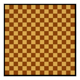 """16x16 Checkers TAG Board (1-1/4"""" fridge magnets) Poster"""