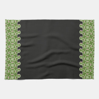 16x24 Black/Green American MoJo Kitchen Towel 1