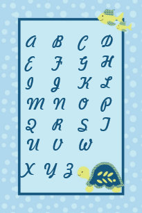 Nursery Abc Chart Gifts on Zazzle AU