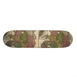 1700 s Map of Asia Skate Board Decks