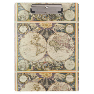 1702 A new map of the world Clipboard