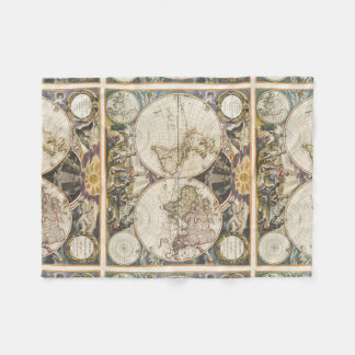1702 A new map of the world Fleece Blanket