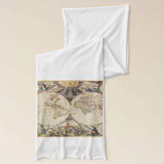1702 A new map of the world Scarf