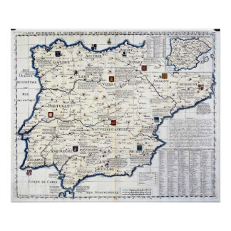 1705-1739 Spain and Portugal Poster