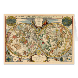 1705 Celestial Zodiac Card
