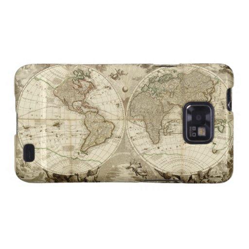 1708 World Map by Jean Baptiste Nolin Samsung Galaxy Case