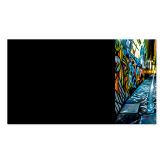 1711 COLORFUL STREET GRAFFITI GANGSTER CITY WALLS PACK OF STANDARD BUSINESS CARDS