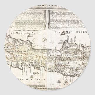 1718 Chatelain Map of Java Geographicus Java c Sticker